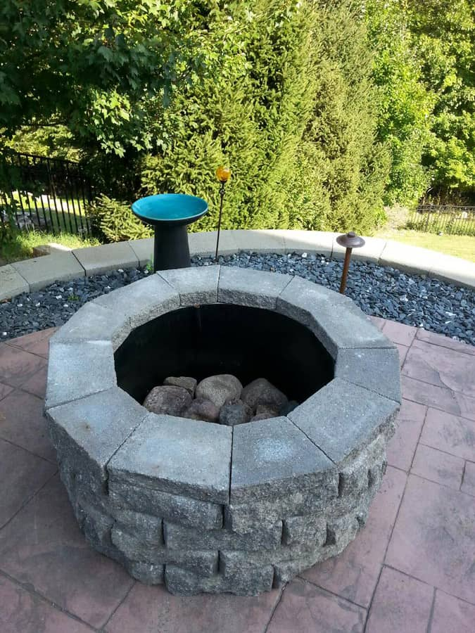 hardscape fire pit