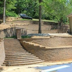 hardscaping project stairs