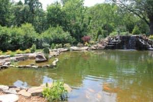 hardscaped pond