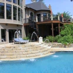 backyard hardscape pool